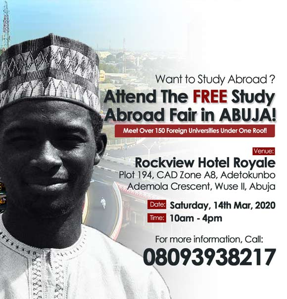Interested In Studying Abroad? Attend this FREE Roadshow Event Happening in Abuja
