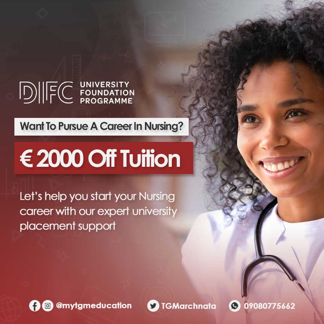 Study Nursing at DIFC Ireland