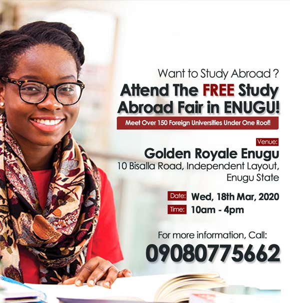 Interested In Studying Abroad? Attend this FREE Roadshow Event Happening in Enugu