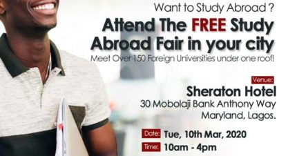 Interested In Studying Abroad? Attend this FREE Roadshow Event Happening in Ikeja