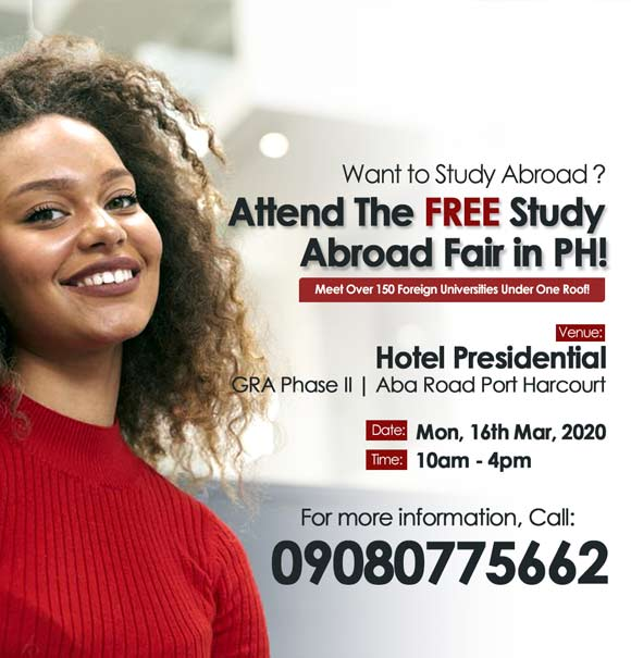 Interested In Studying Abroad? Attend this FREE Roadshow Event Happening in Port Harcourt