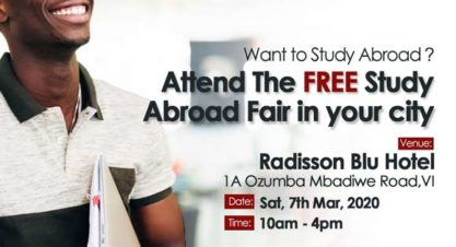 Interested In Studying Abroad? Attend this FREE Roadshow Event Happening in Victoria Island
