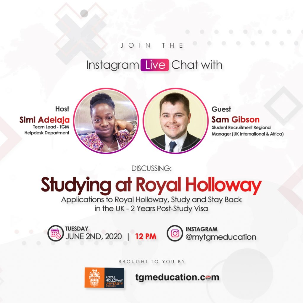 Royal Holloway IG Live Session