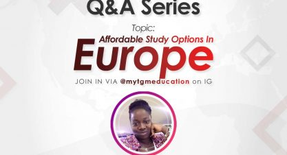 Have Questions About Affordable Study Options In Europe? Join us on IG Live Tomorrow