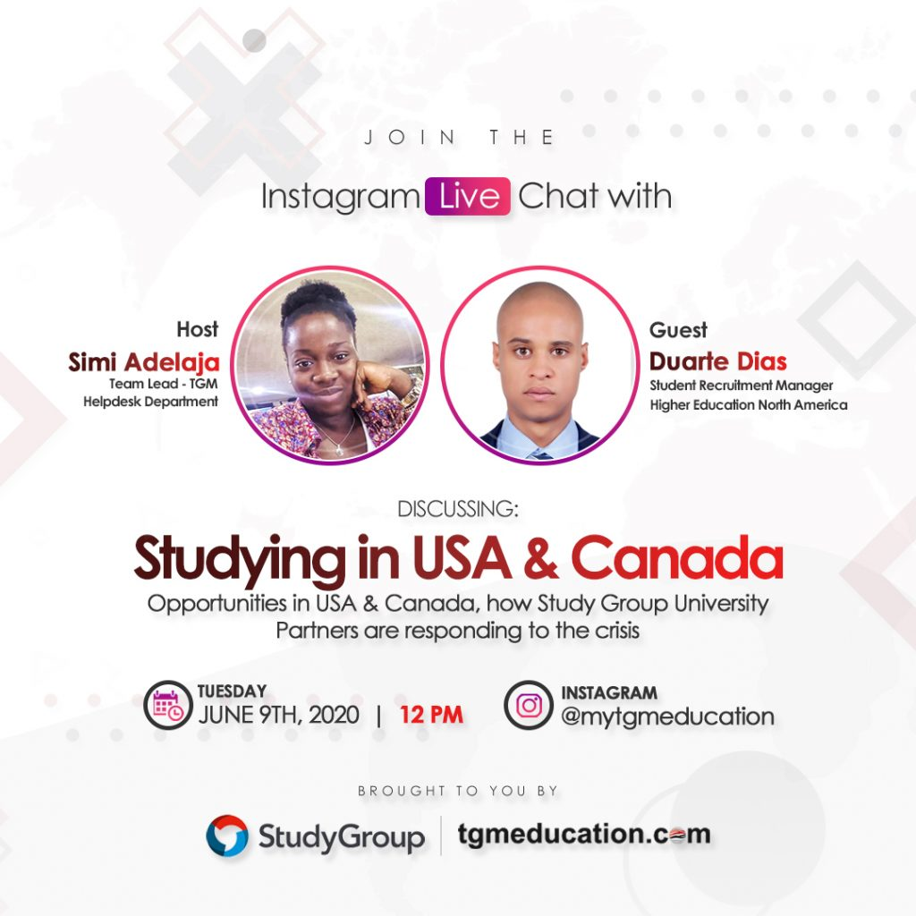 Study Group (USA & Canada) IG Live Session