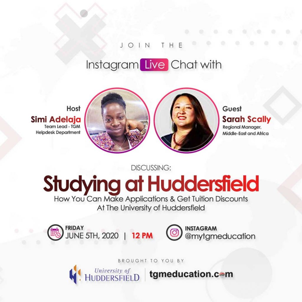 University of Huddersfield IG Live Session