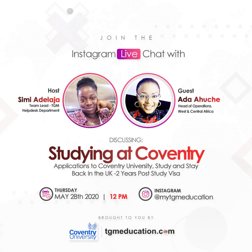 Coventry University - Instagram Live Session With TGM Education