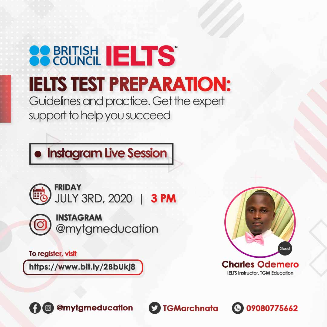 IELTS in Nigeria - Want to ace your IELTS in one sitting? Want to know the IELTS training Centres in Lagos Nigeria or the IELTS exam dates in Nigeria 2020? Attend this IG Live Session to find out all you need to know about IELTS.