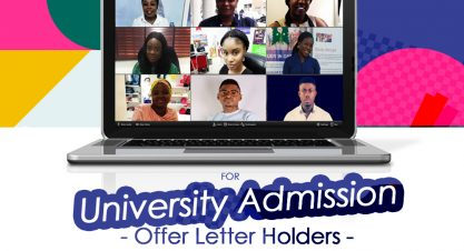 Zoom Meeting For University Admission Offer Holders