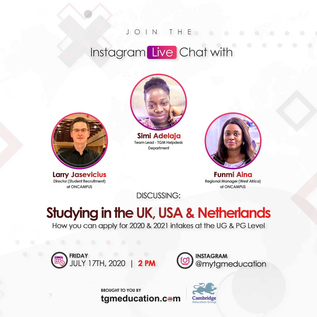 Studying in the UK, USA or Netherland with ONCAMPUS and TGM Education
