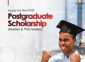 PTDF Postgraduate Scholarship Offer For 2020/2021