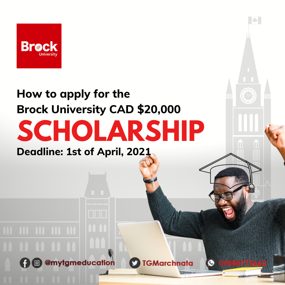 Brock University International Student Ambassador Award Scholarship in Canada