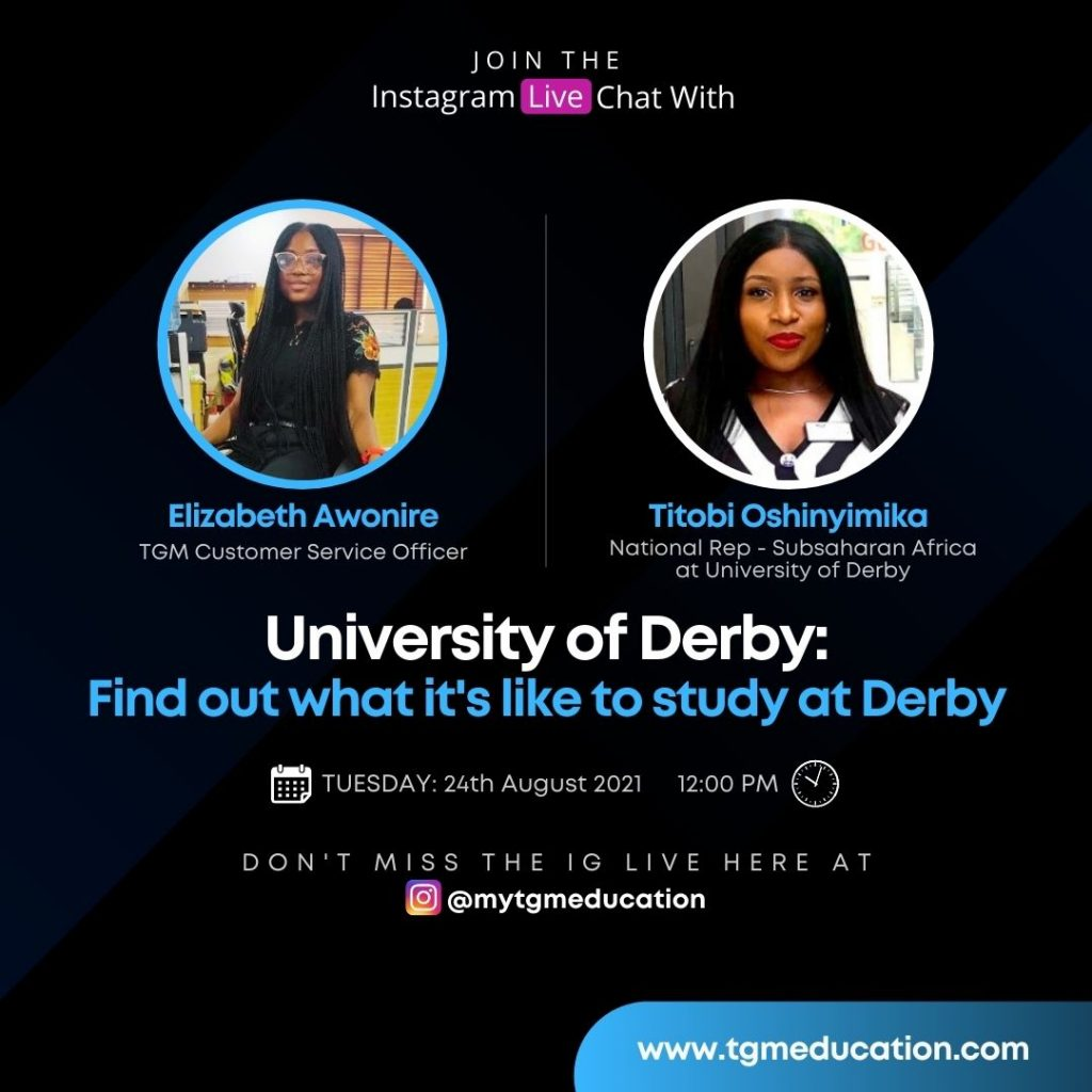 Find out What it is like to study at Derby
