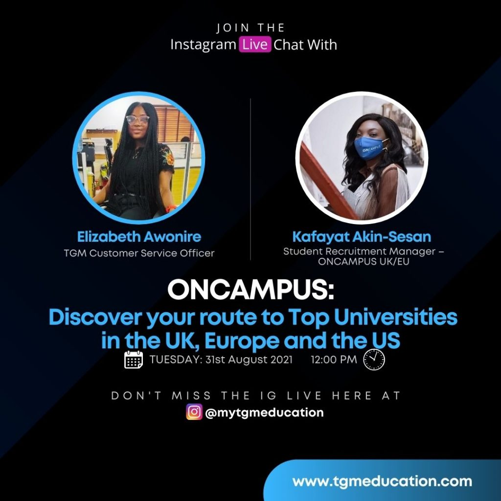 ONCAMPUS CEG - Route to Top Universities in UK, US and Europe
