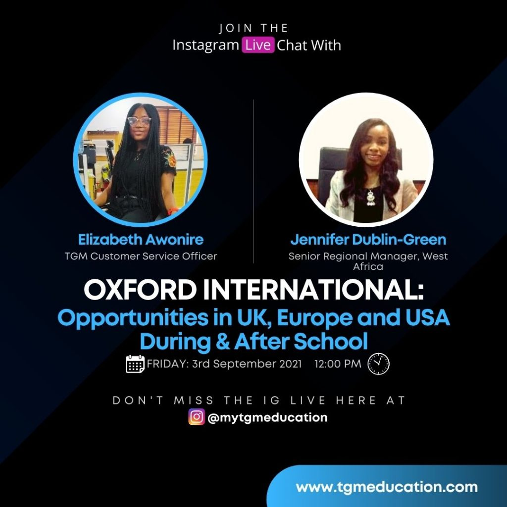 Opportunities in UK, Europe and USA - Oxford International