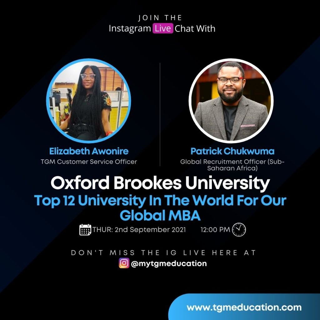 Oxford Brookes University - Top 12 in the World for Global MBA